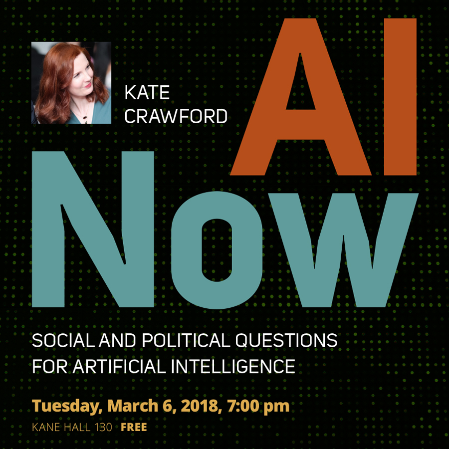 Tech Policy Lab Distinguished Lecture with Kate Crawford
