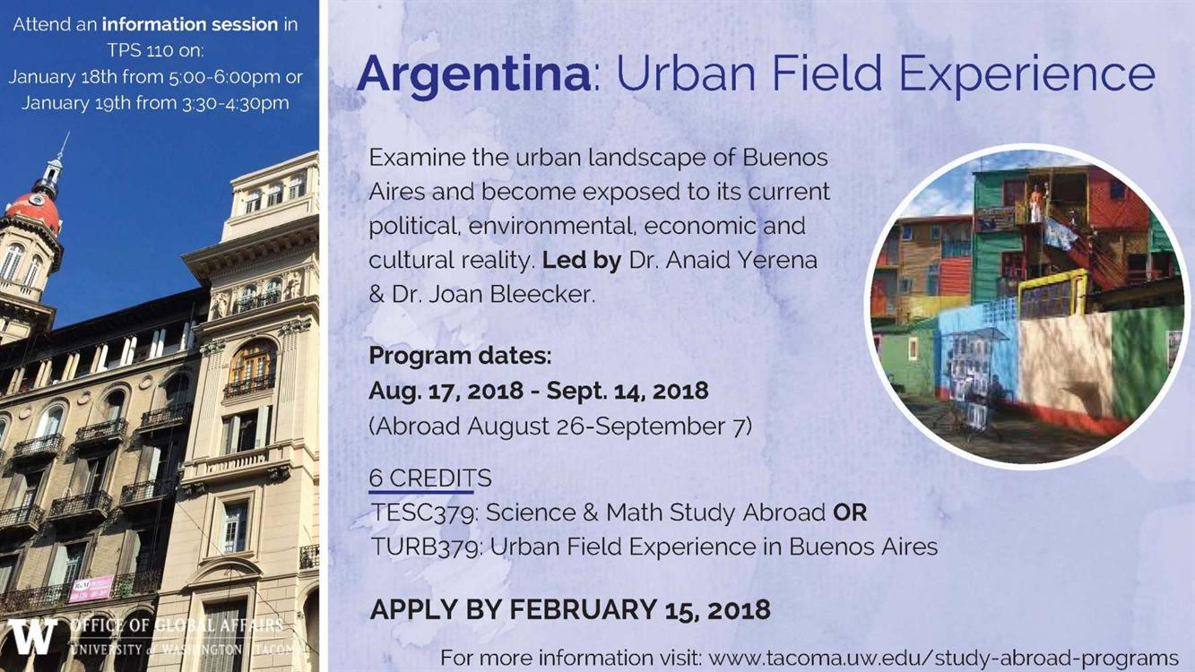 Argentina: Urban Field Experience Information Session