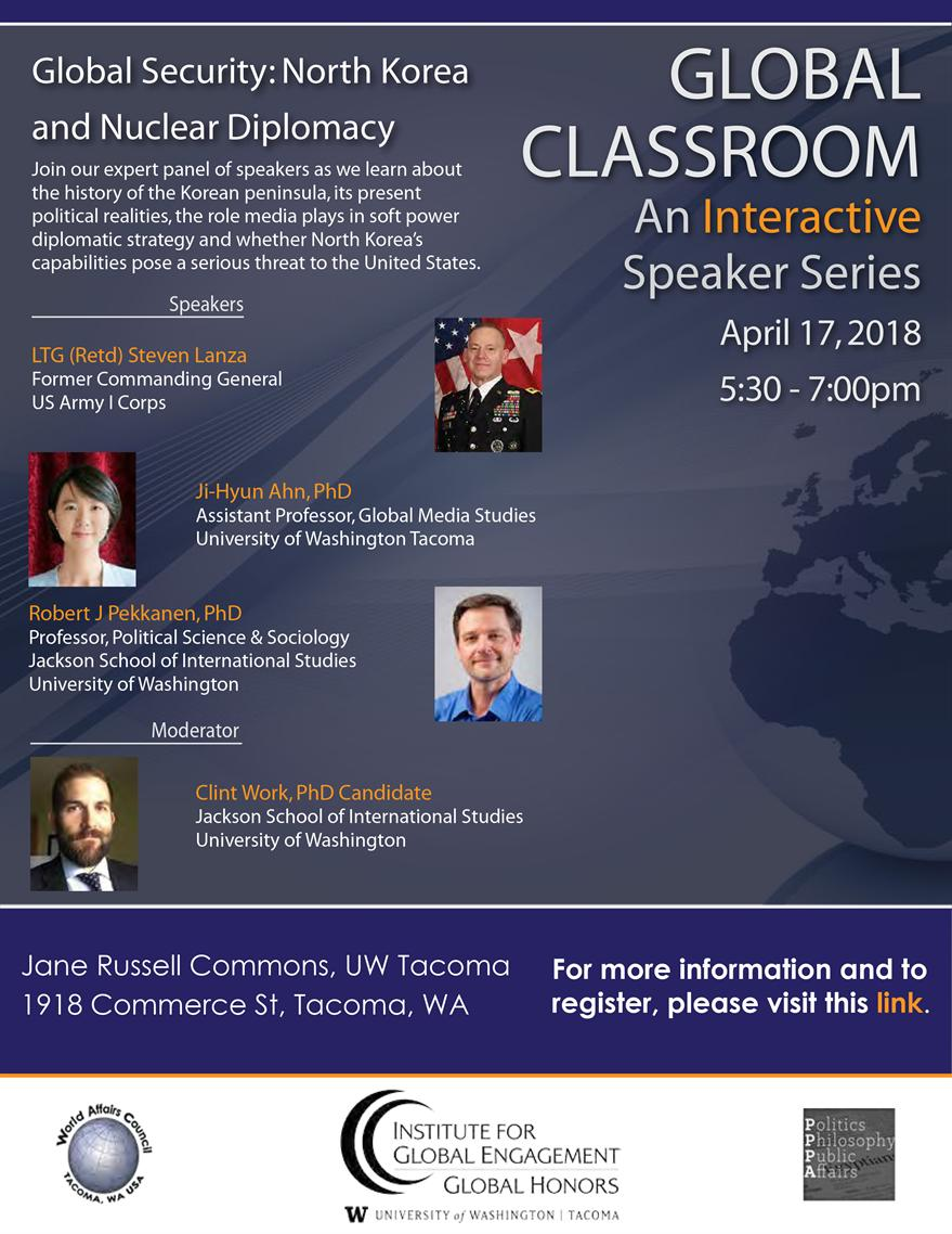 Spr '18 Global Classroom - Global Security: North Korea and Nuclear Diplomacy