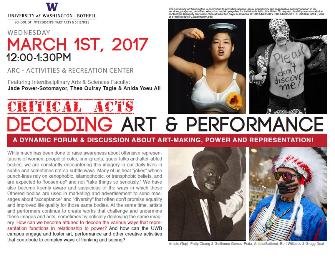 Critical Acts: Decoding Art and Performance