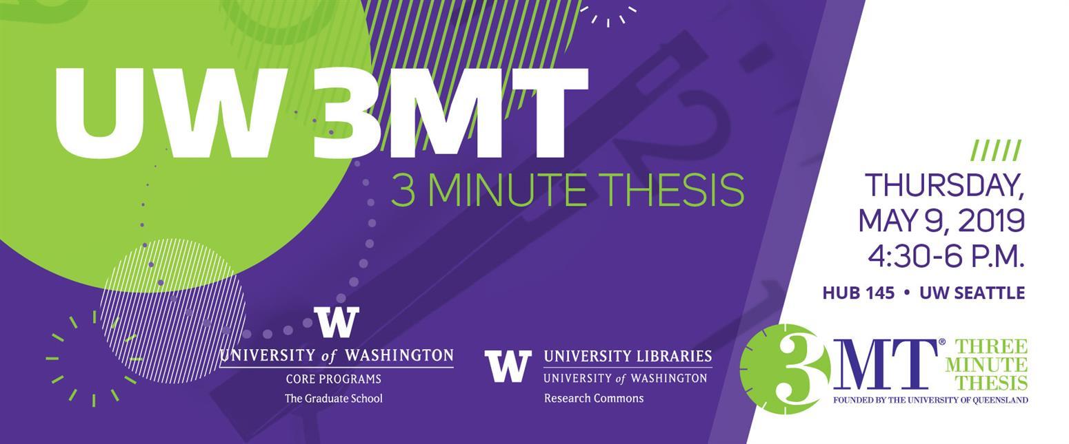 UW Three Minute Thesis Competition (UW 3MT)
