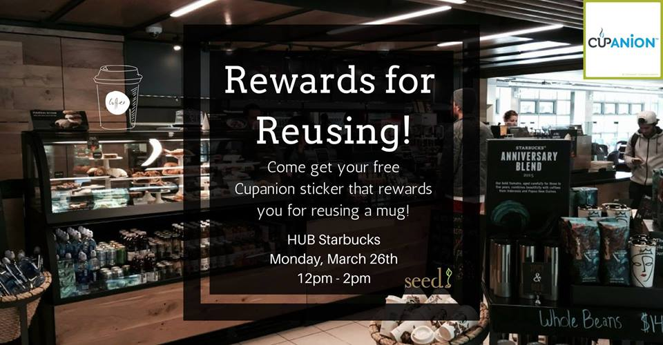 Rewards for Reusing! Free Cupanion Sticker Day 1