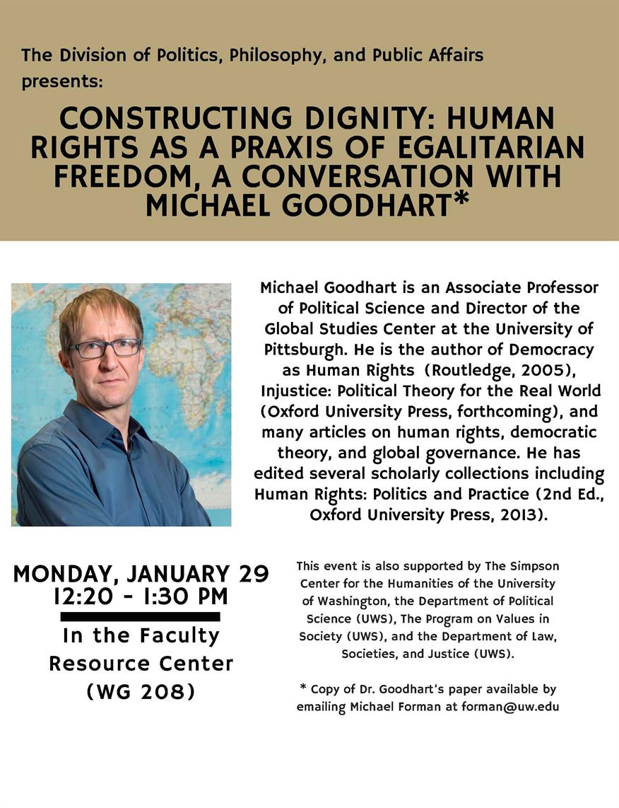 Constructing Dignity - A Conversation with Michael Goodheart