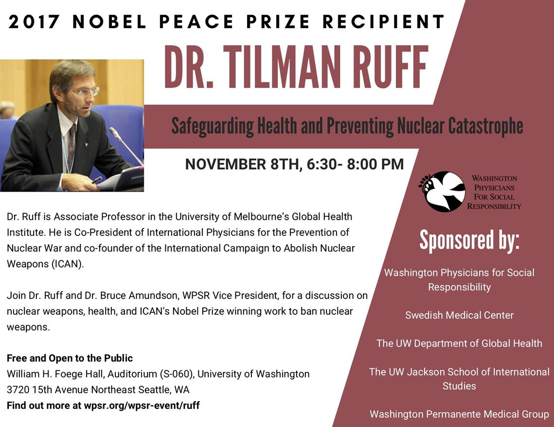 TALK | Safeguarding health and preventing nuclear catastrophe with Tilman Ruff