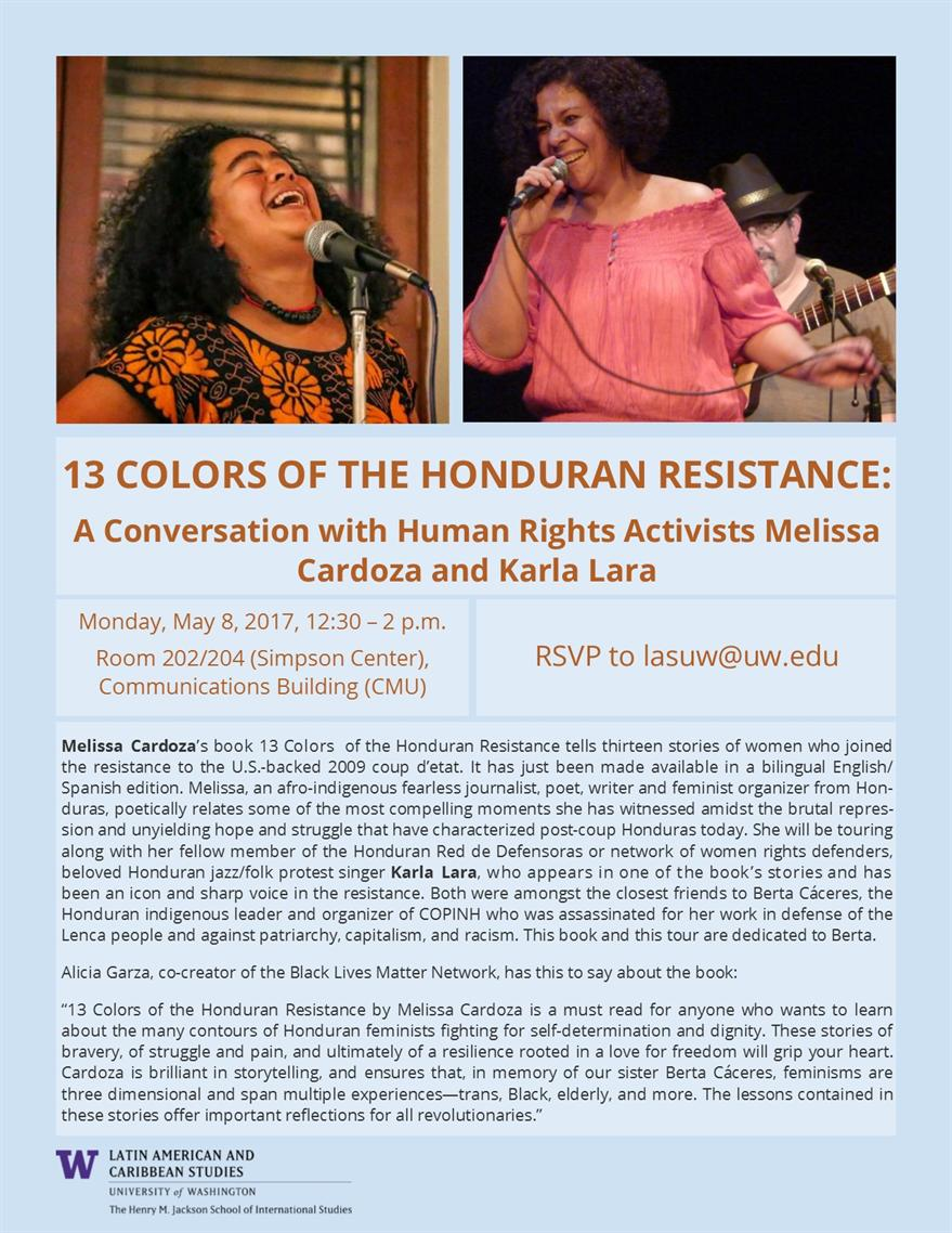 13 Colors of Honduran Resistance: A Conversation with Human Rights Activists Melissa Cardoza and Karla Lara