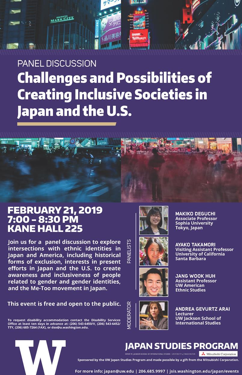 Challenges and Possibilities of Creating Inclusive Societies in Japan and the U.S.
