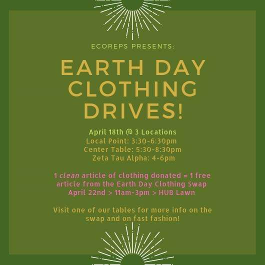 Earth Day Clothing Drive!