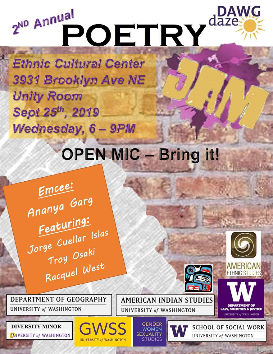 2ND Annual Dawg Daze Social Justice Poetry Jam