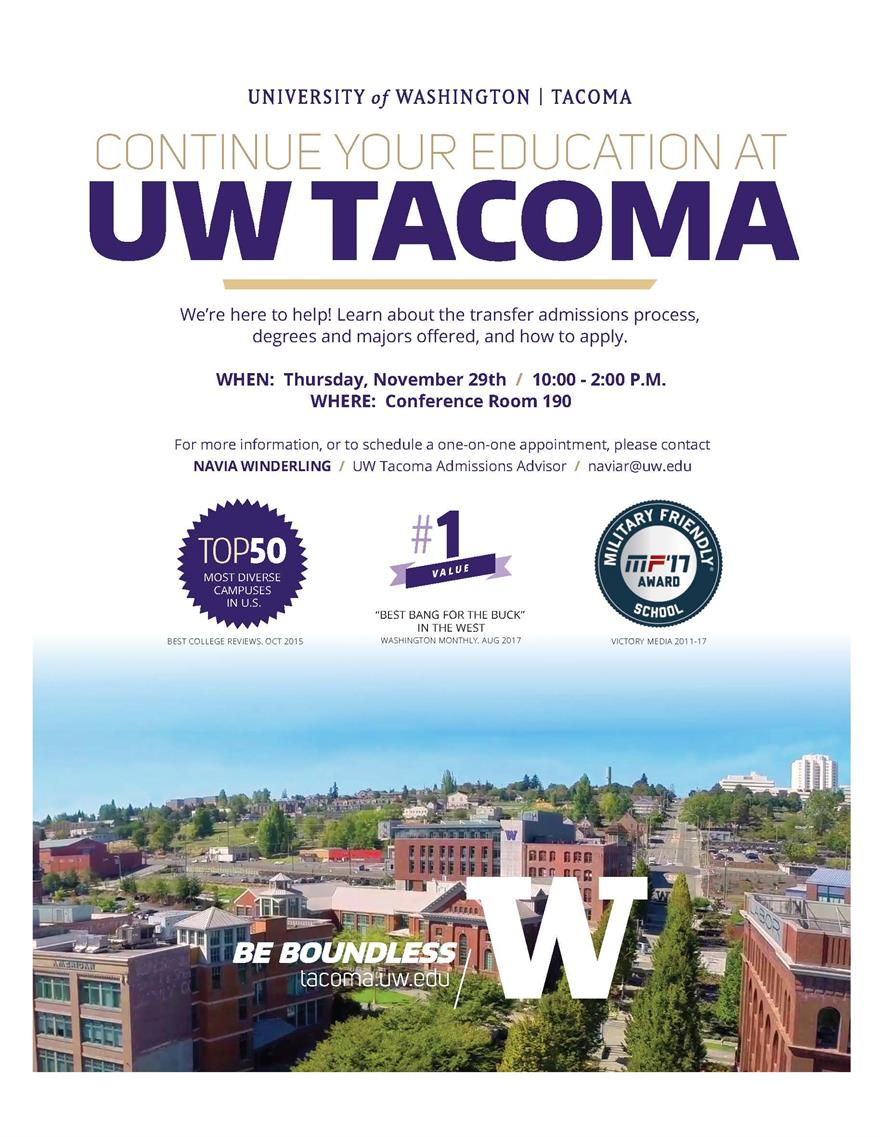 UW Tacoma Admissions at South Puget Sound Lacey Campus