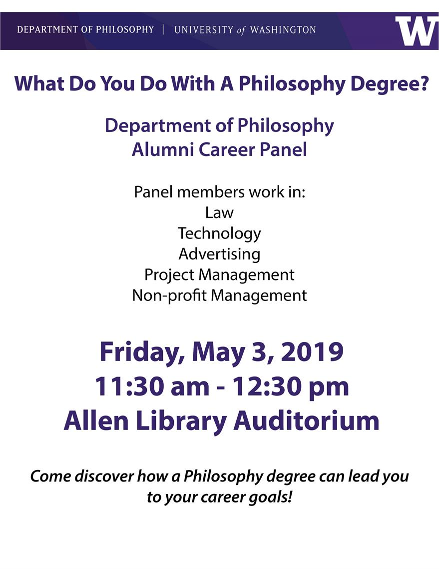Philosophy Alumni Career Panel