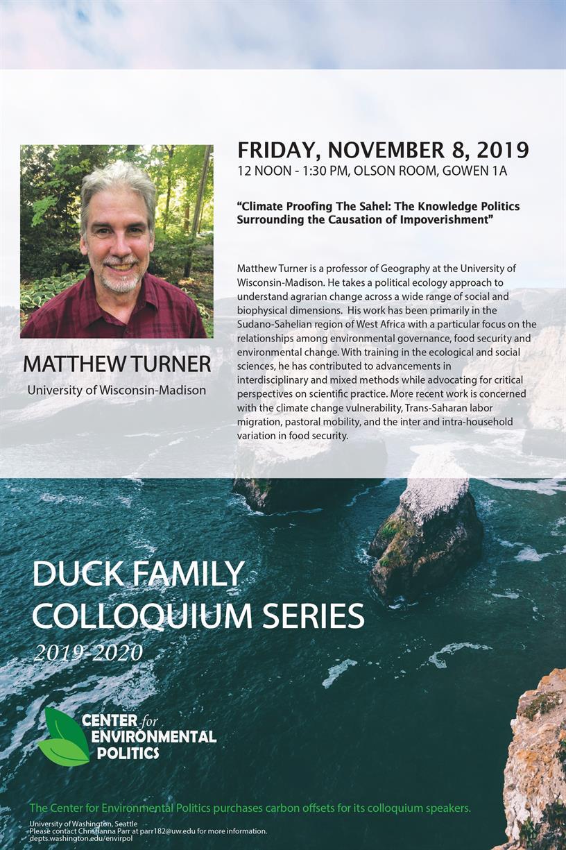 Matthew Turner: UW Center for Environmental Politics' Duck Family Colloquium Series
