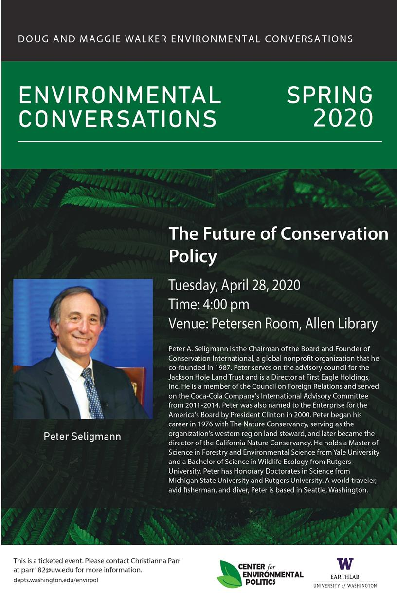 Doug and Maggie Walker Environmental Conversations: The Future of Conservation Policy