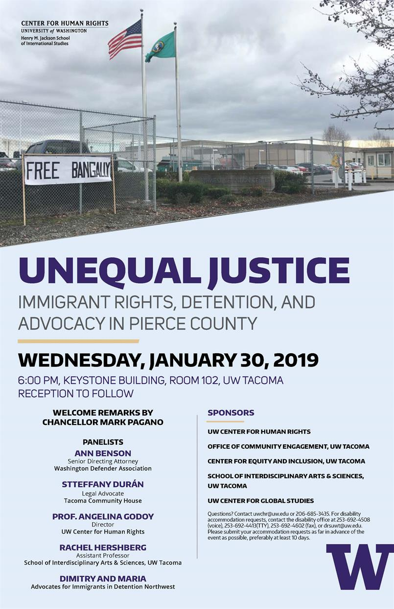 Unequal Justice: Immigrant rights, Detention, and Advocacy in Pierce County