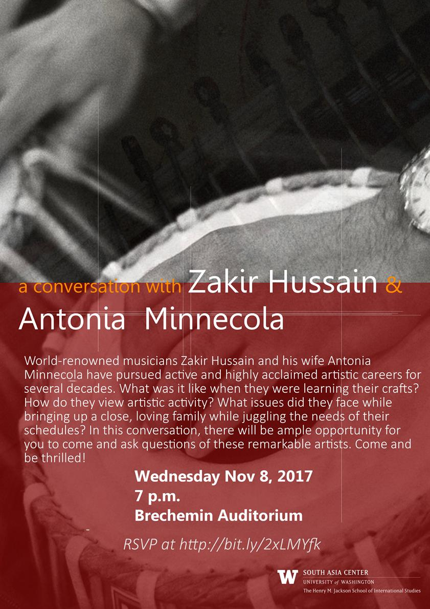 An Interview/Conversation with Zakir Hussain and Antonia Minnecola