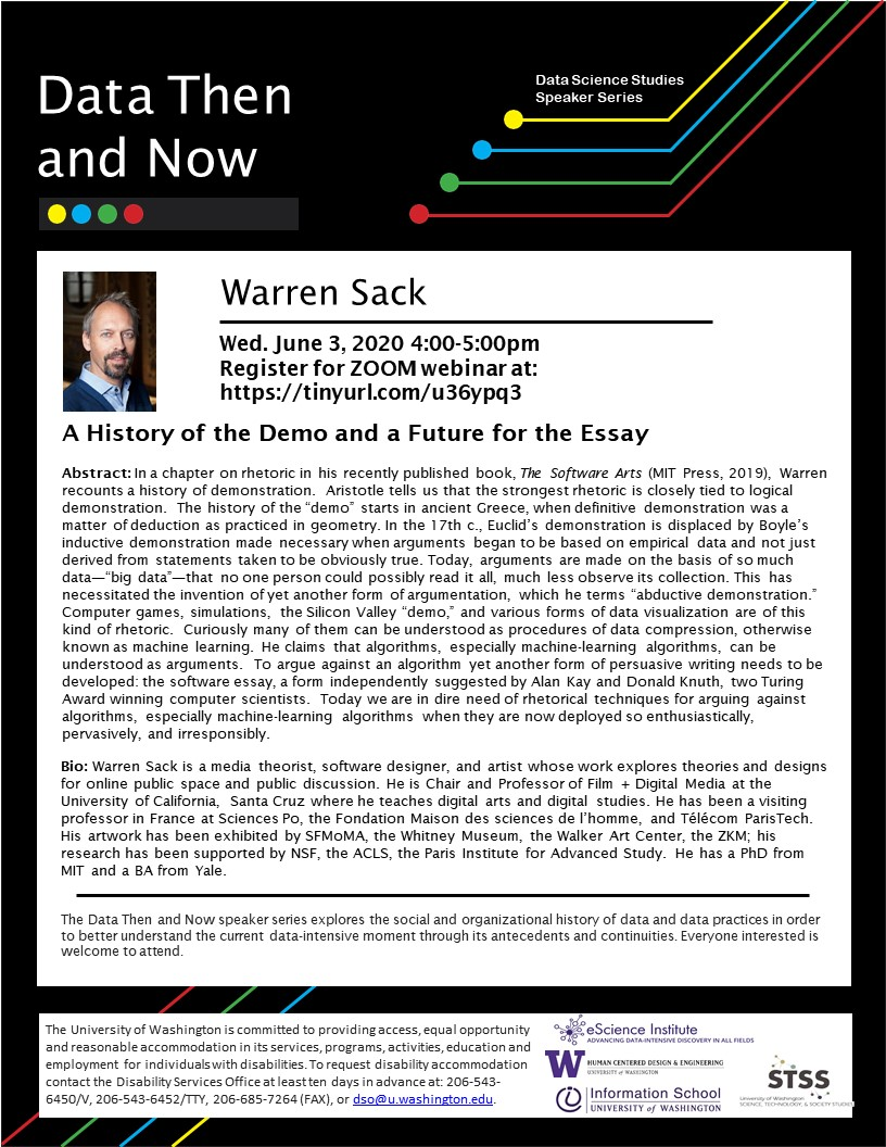 WEBINAR: A History of the Demo and a Future for the Essay - Warren Sack