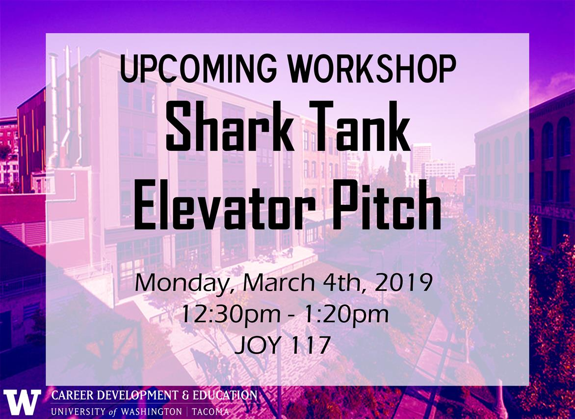 Creating your elevator pitch workshop