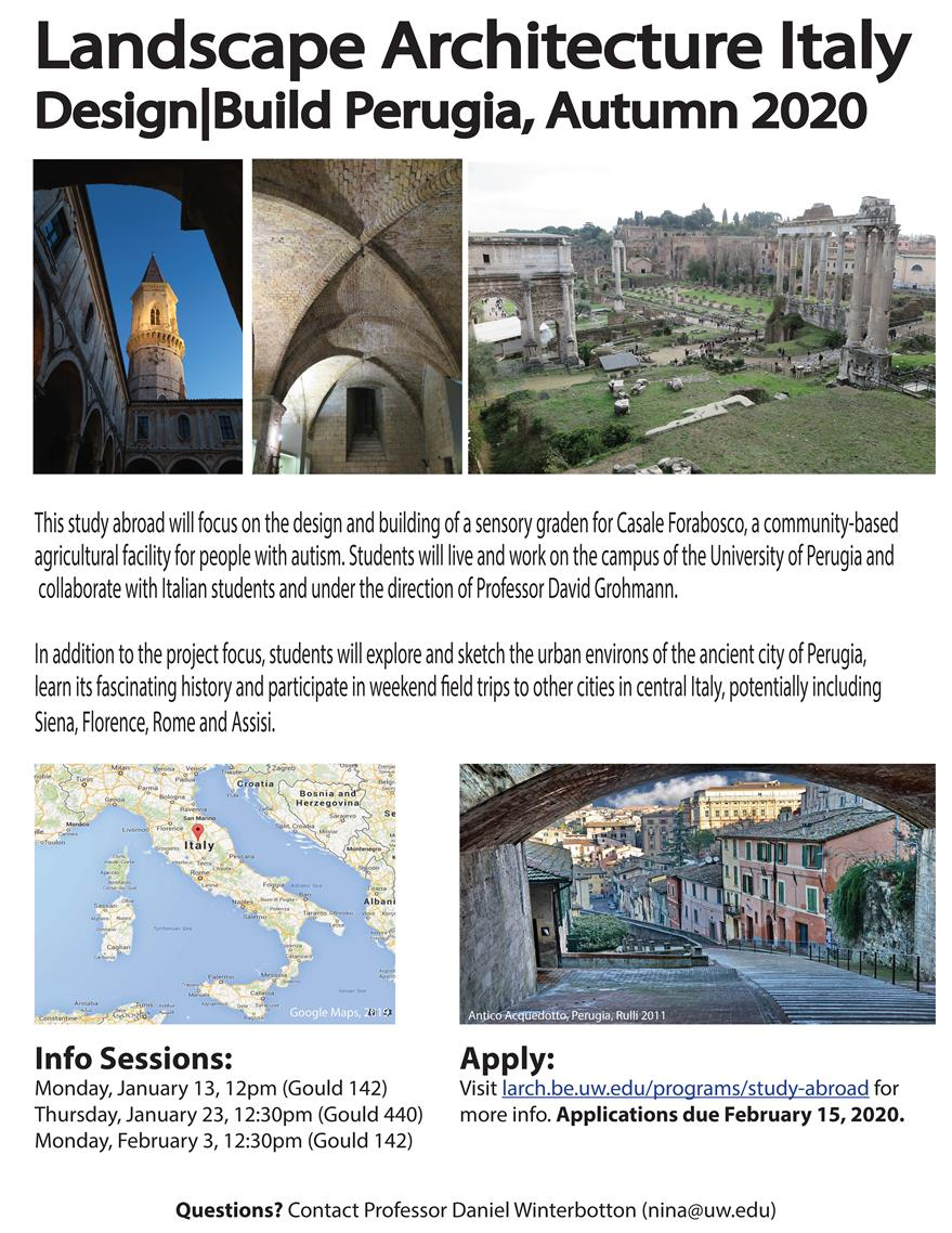 Italy Design|Build Perugia Study Abroad Info Session