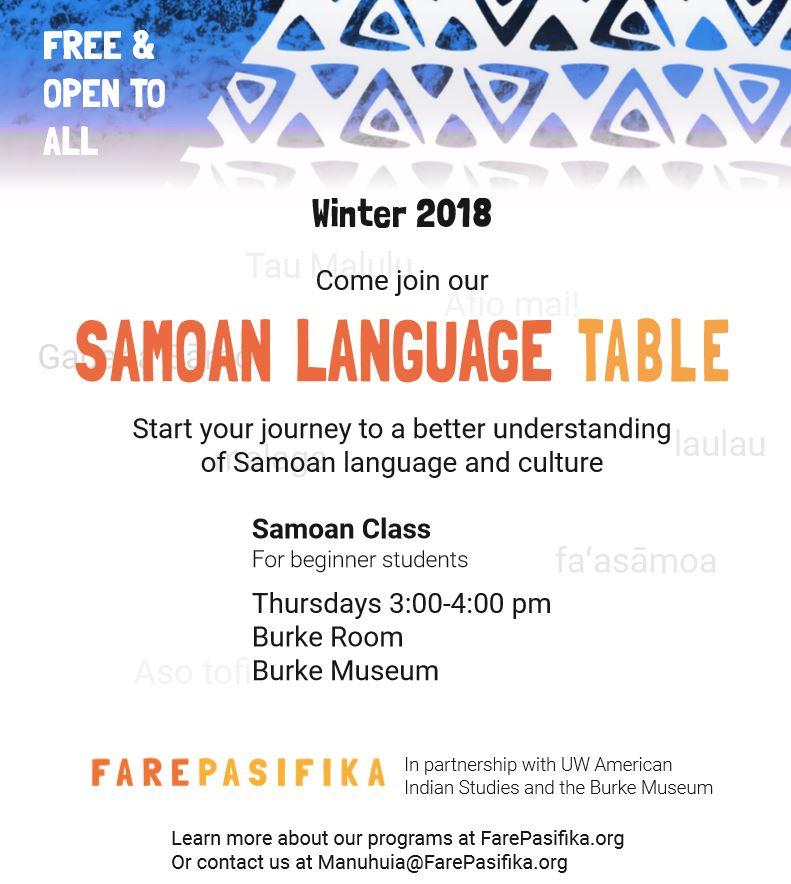 Samoan Language Table
