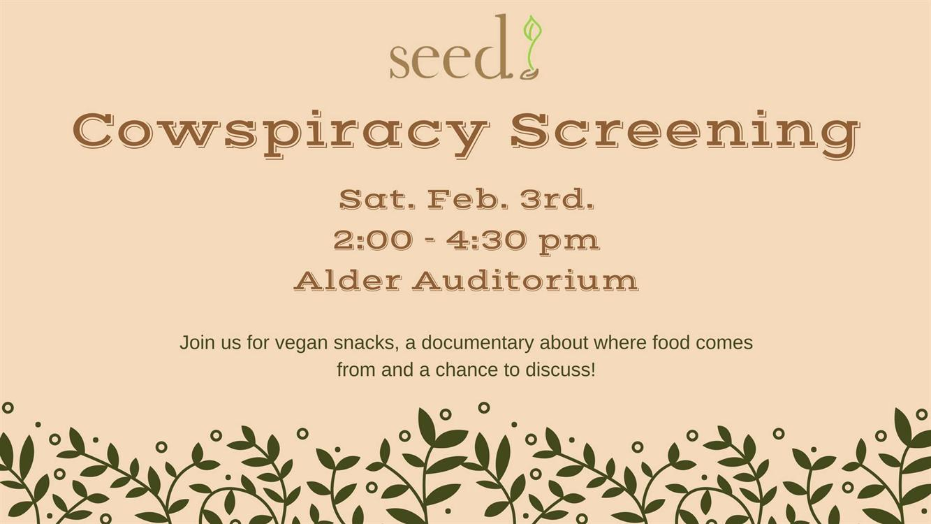 """Cowspiracy"" screening"