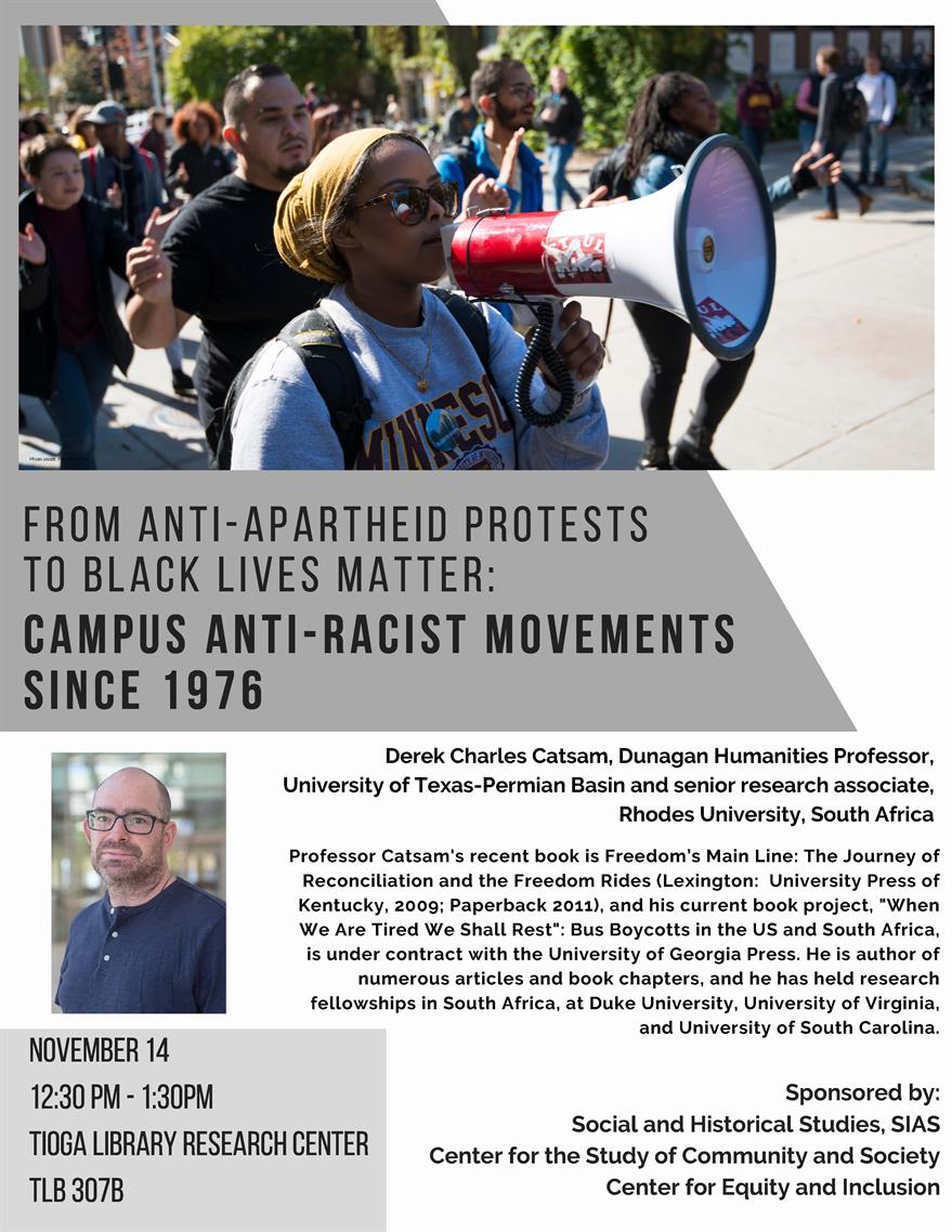 From Anti-Apartheid Protests to Black Lives Matter: Campus Anti-Racist Movements Since 1976
