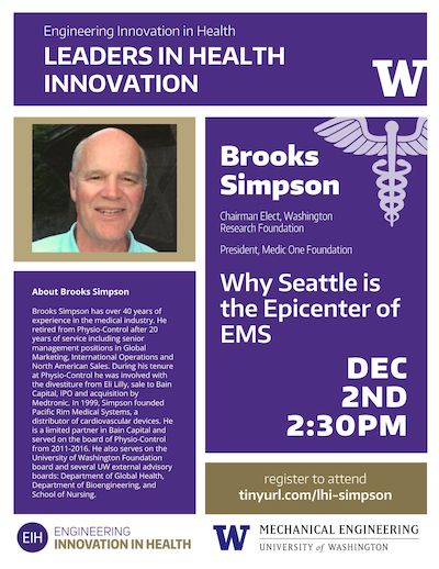 Leaders in Health Innovation: Brooks Simpson - Why Seattle is the Epicenter of EMS