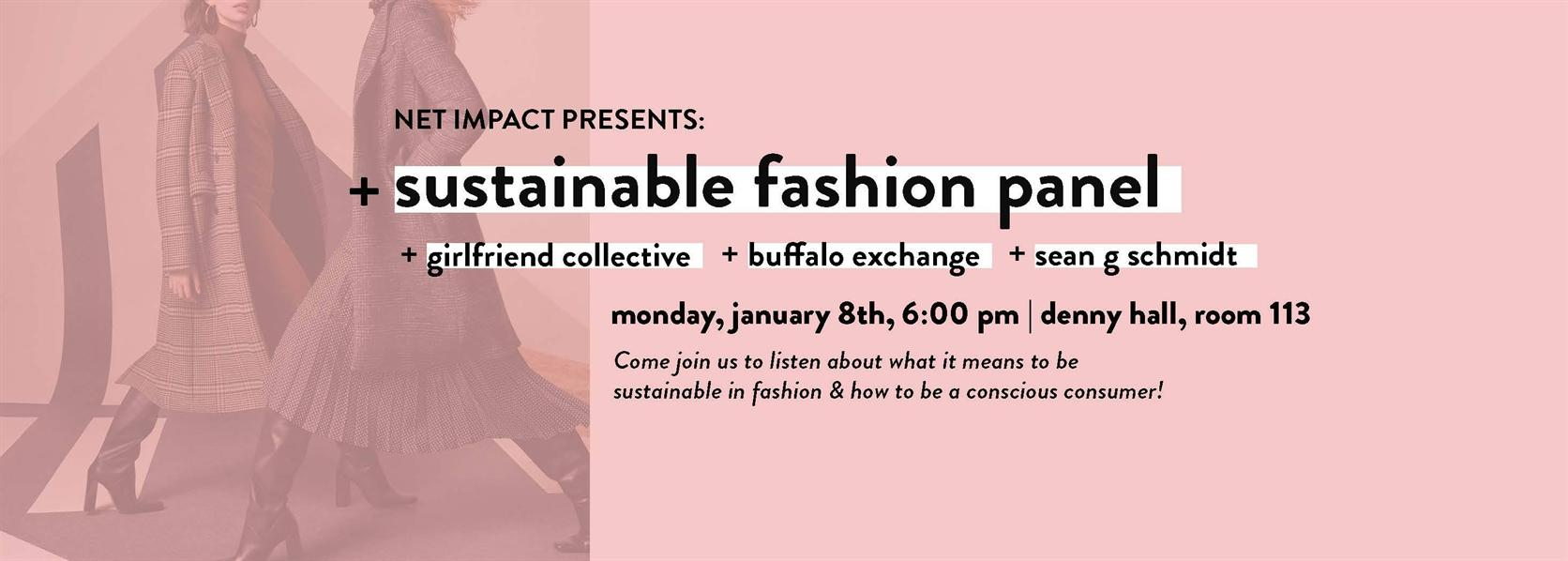 Sustainable Fashion Panel