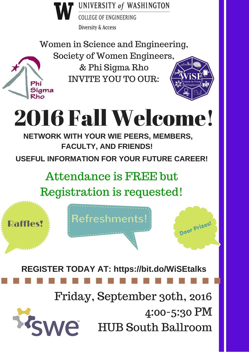WiSE Fall Kick-off & Welcome