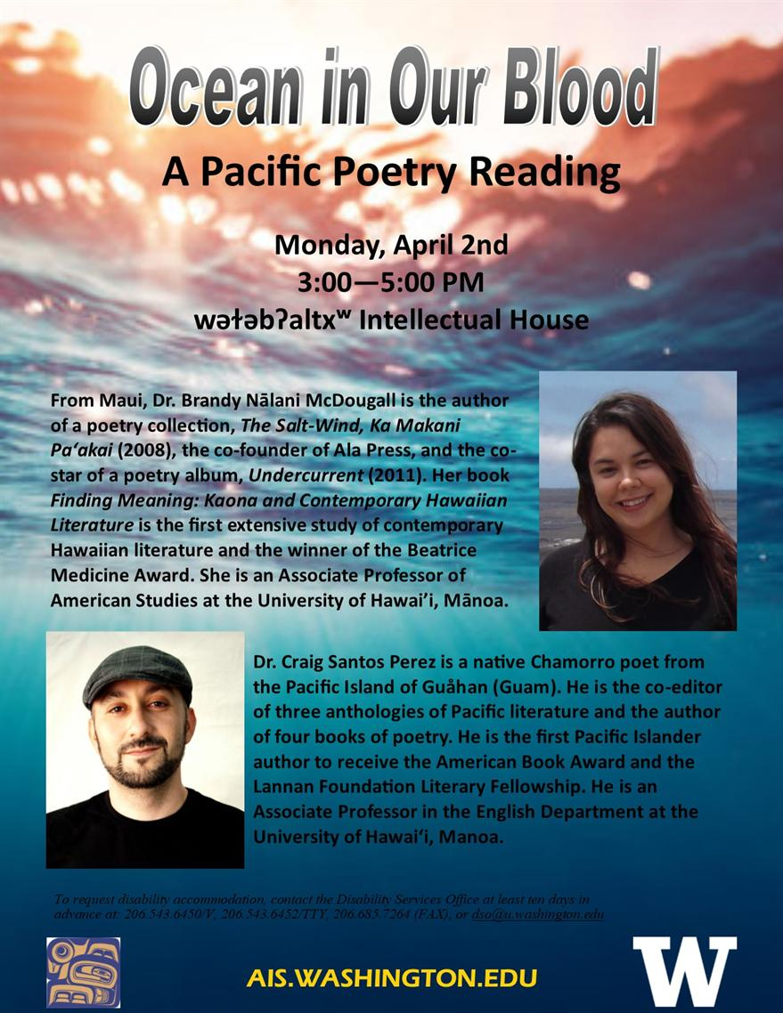 Ocean in Our Blood; a Pacific Poetry Reading