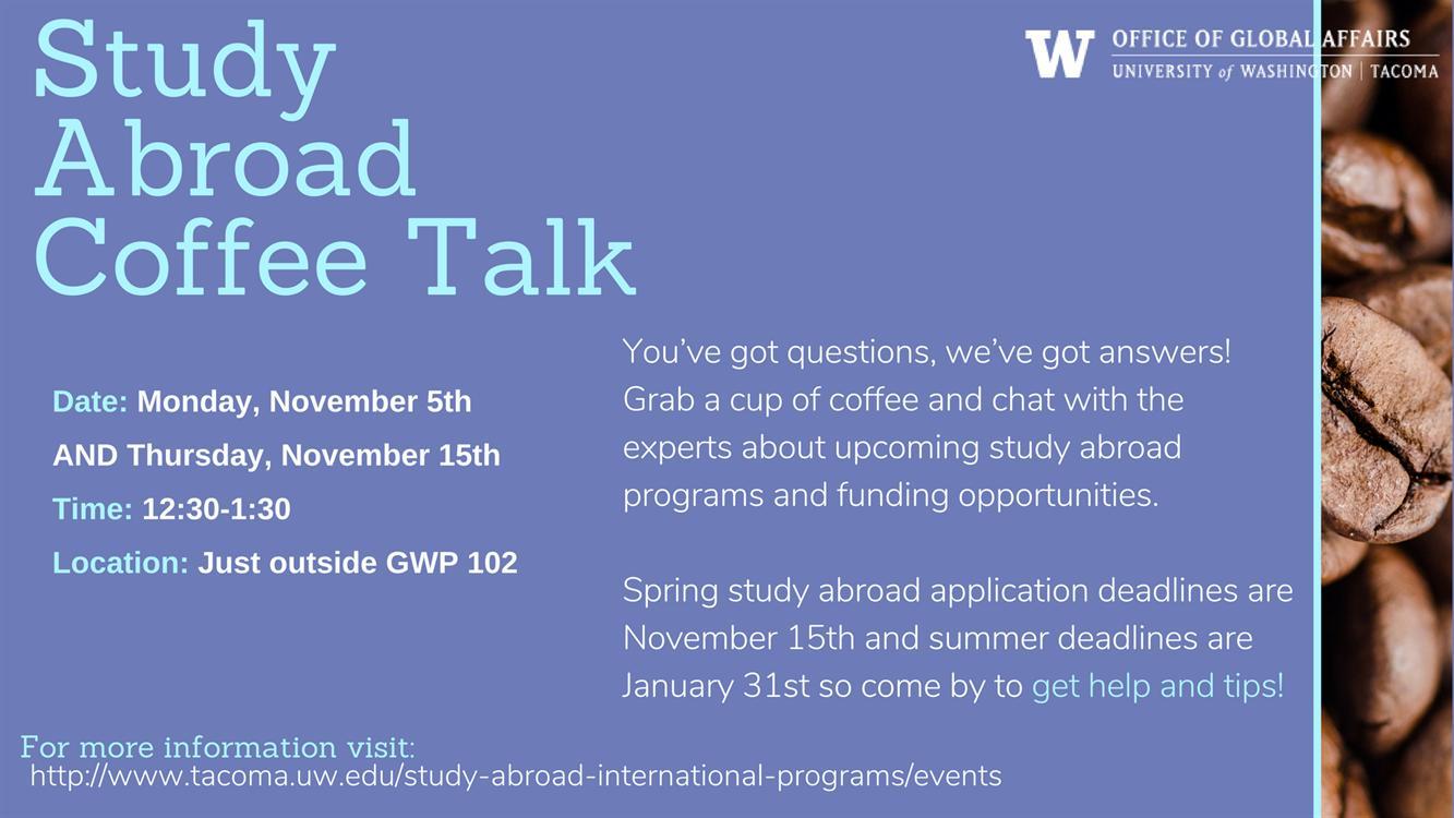 Study Abroad Coffee Talk