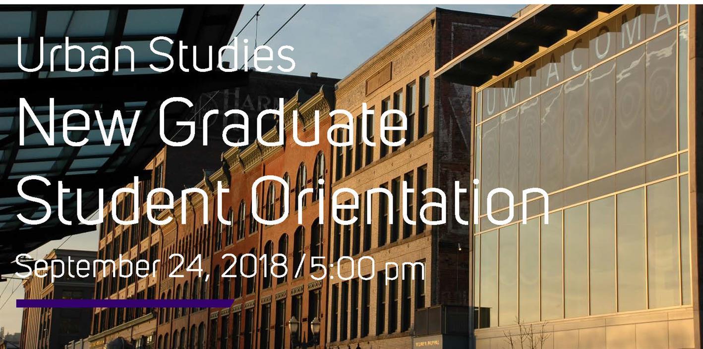 MACP & MSGT Graduate Student Orientation