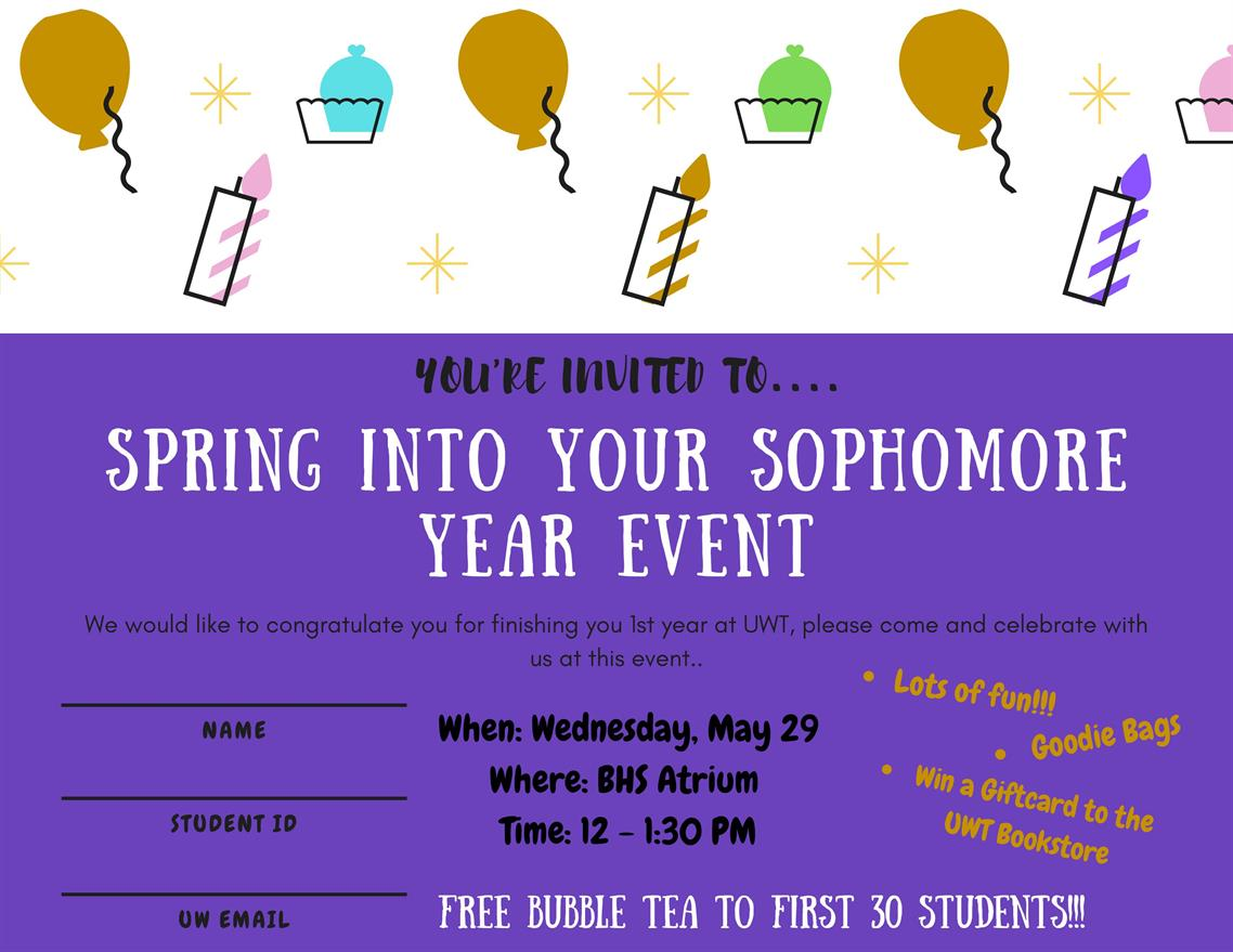 Spring Into Your Sophomore Year Event