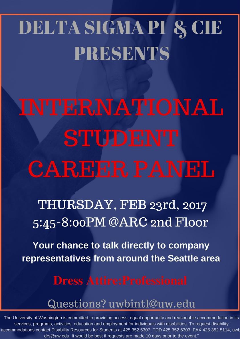 International Student Career Panel