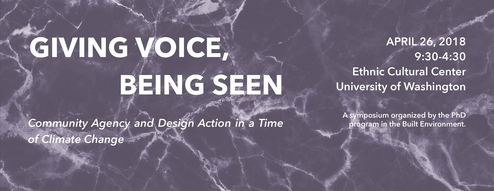 Giving Voice, Being Seen: Community Agency and Design Action in a Time of Climate Change