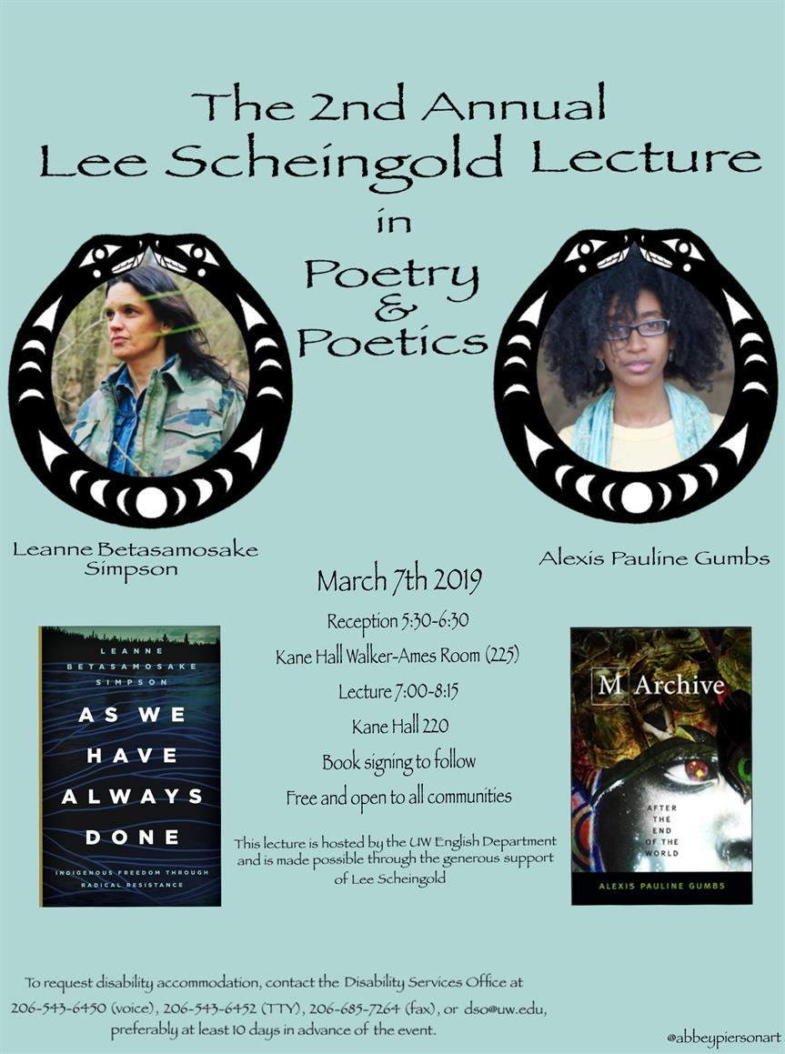 2nd Annual Lee Scheingold Lecture in Poetry and Poetics