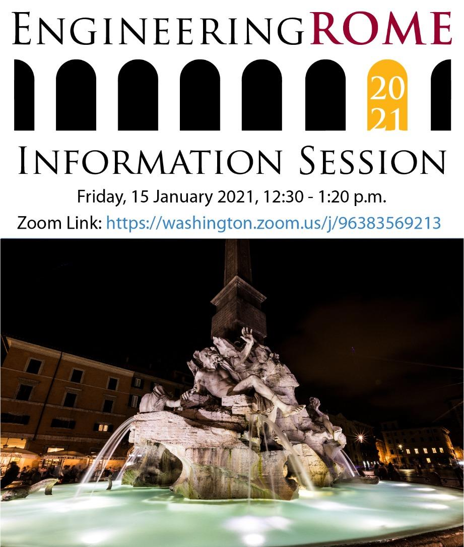 Engineering Rome 2021 Study Abroad Information Session