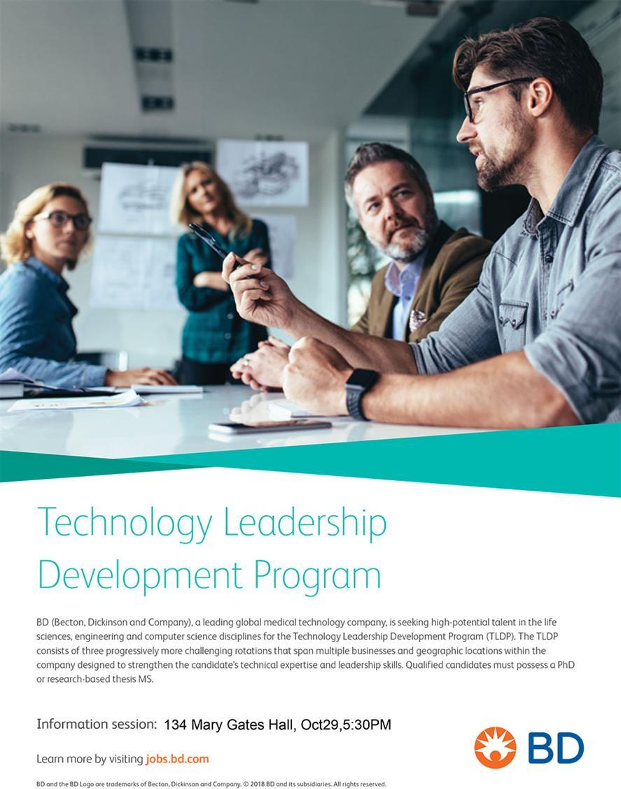Info Session: Becton Dickinson's Technology Leadership Development Program