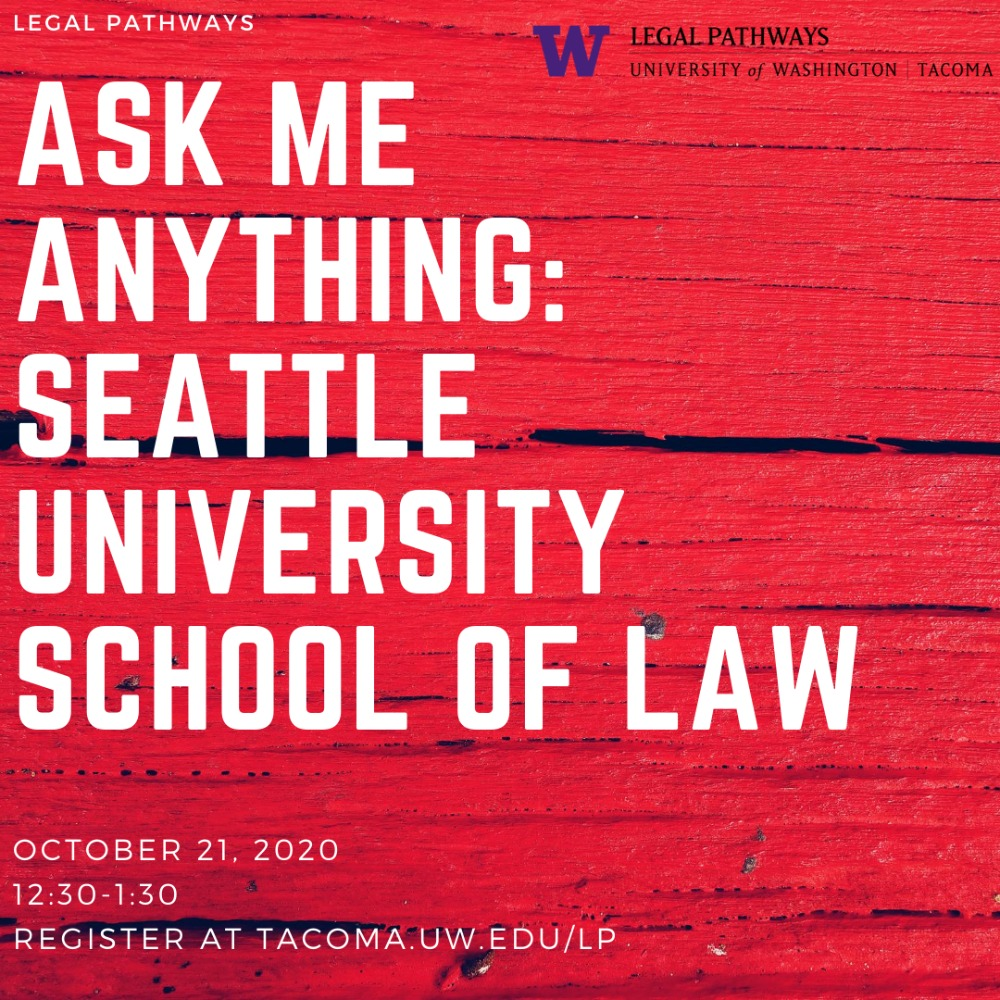 "Seattle University School of Law -- ""Ask Me Anything"" with the Dean of Admissions!"