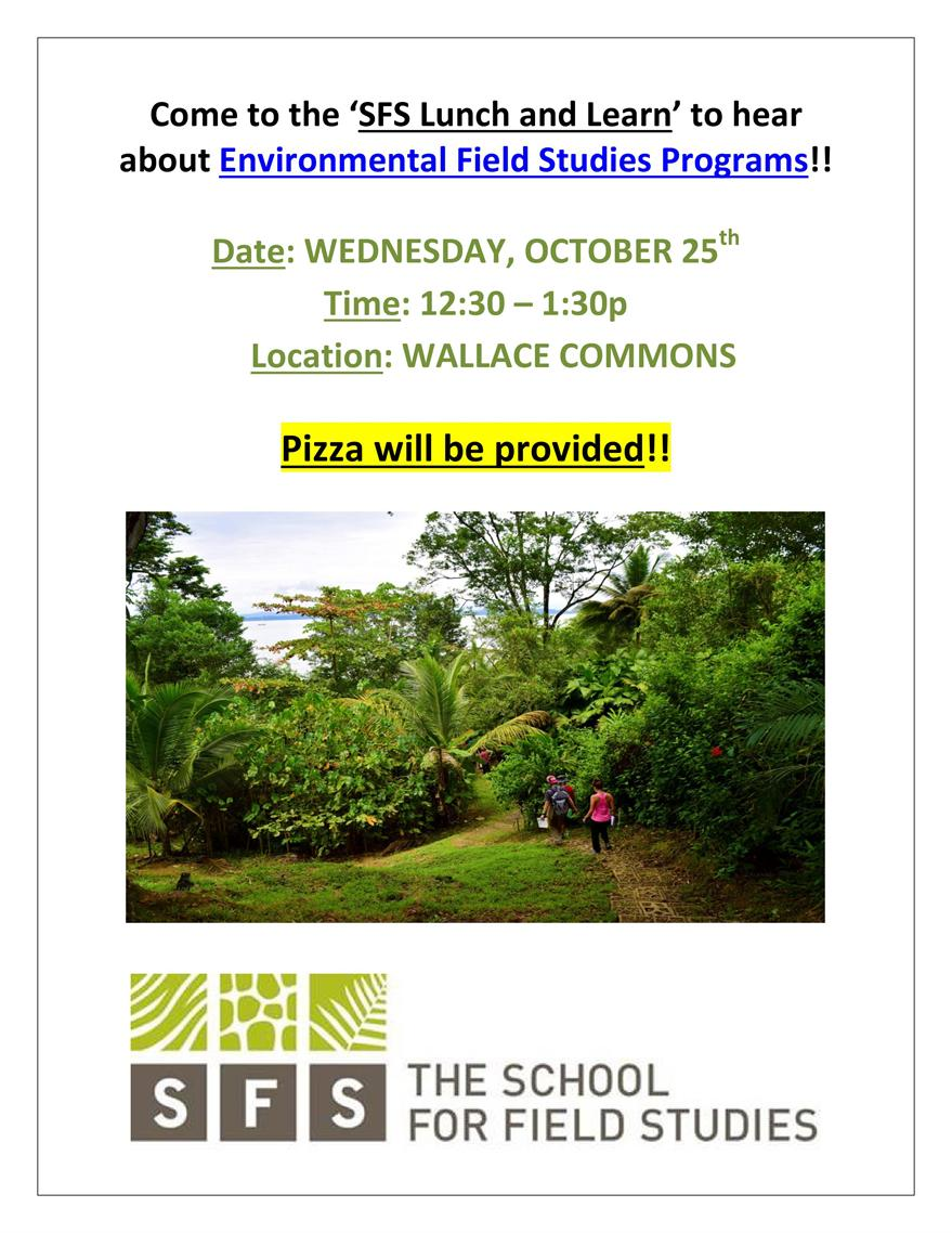 School for Field Studies Study Abroad Lunch and Learn