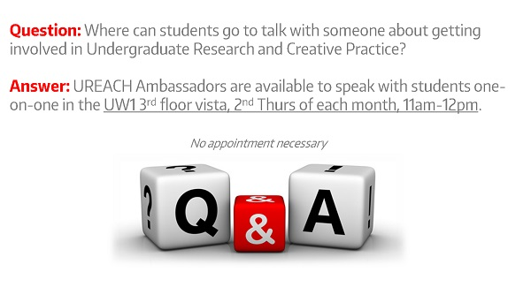 Undergraduate Research Info/Q&A Table - UREACH