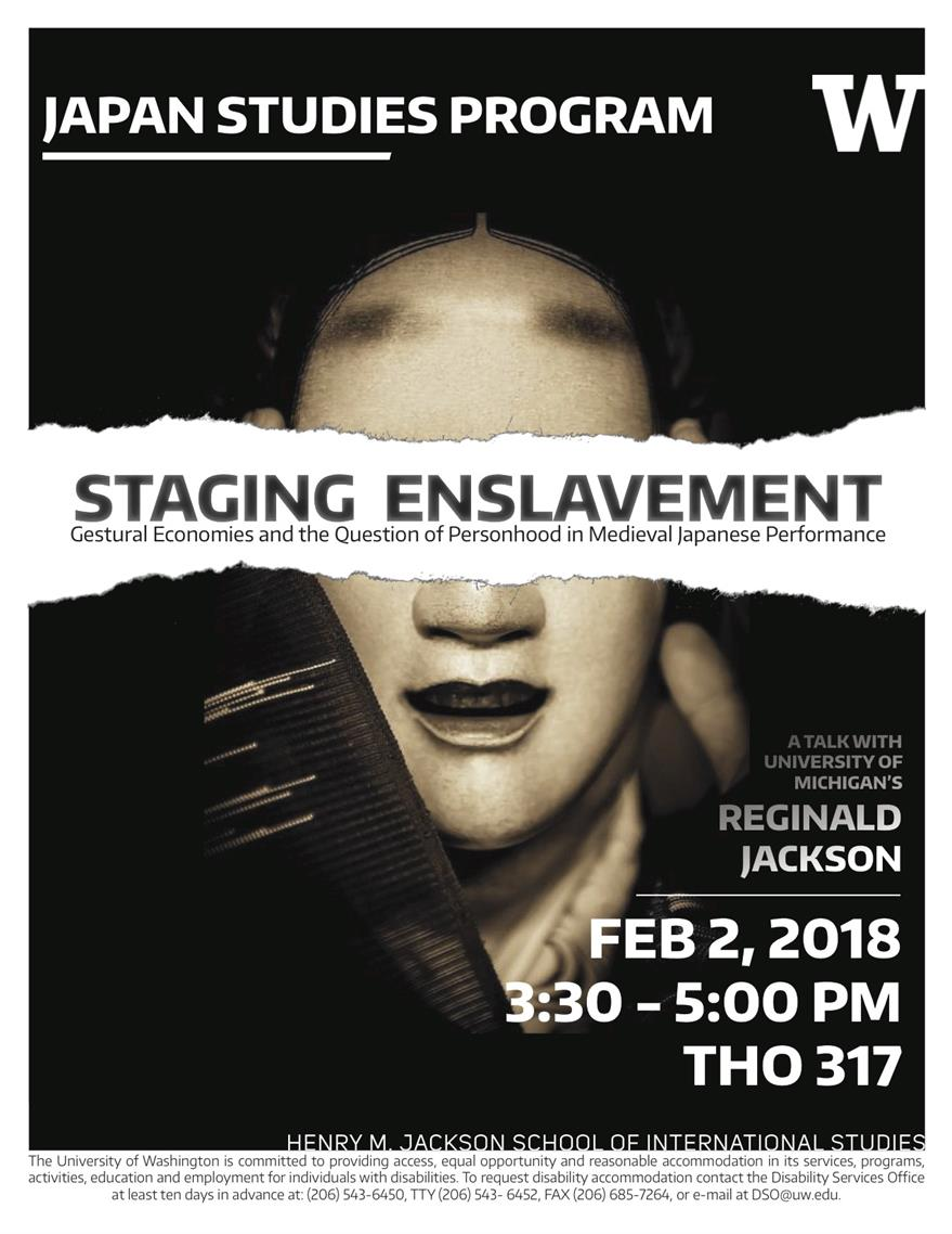 Lecture: Staging Enslavement: Gestural Economies and the Question of Personhood in Medieval Japanese Performance
