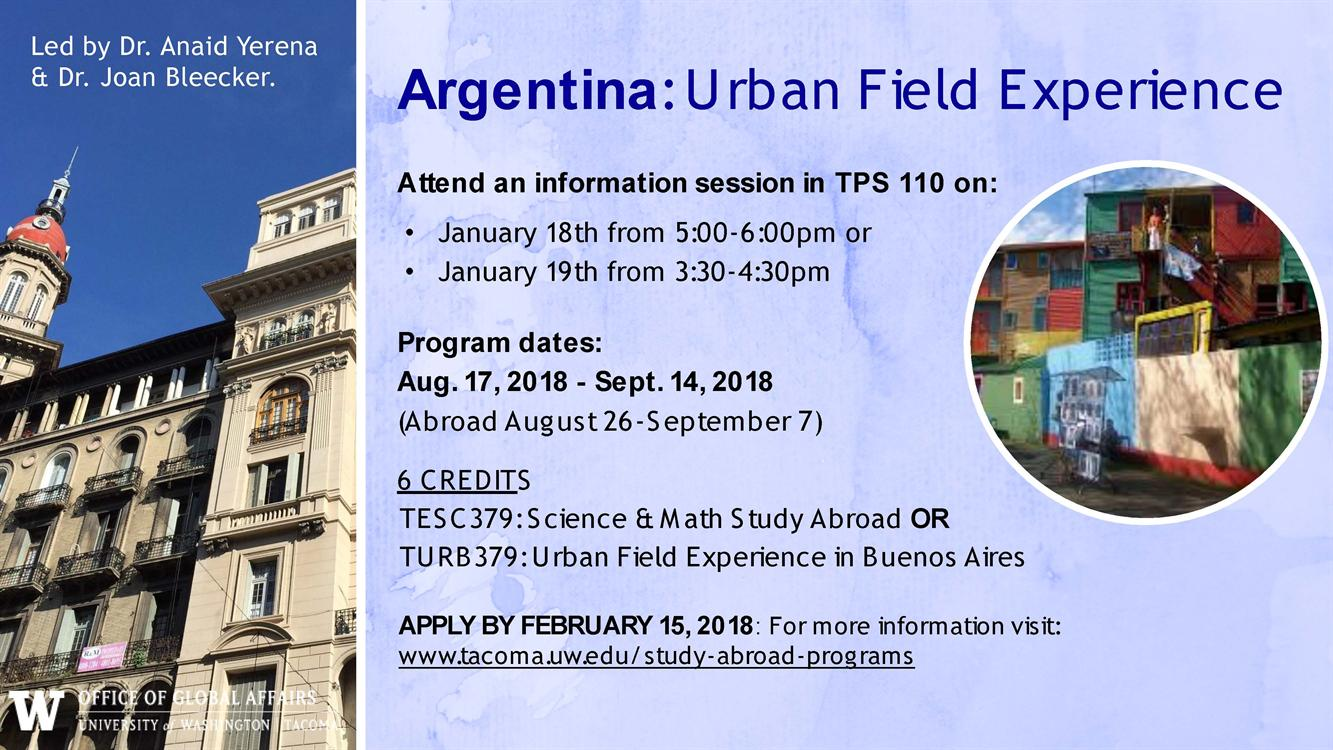 Argentina: Urban Field Experience Information Session two