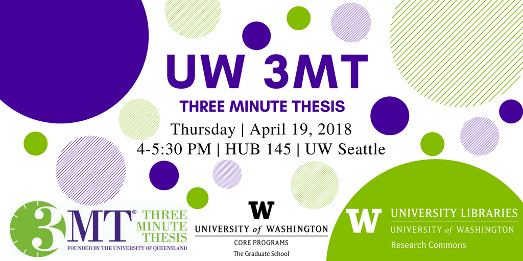 2018 UW Three Minute Thesis Competition (UW 3MT)