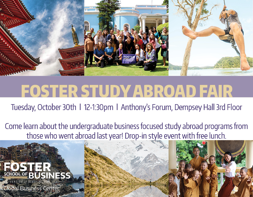 Foster Study Abroad Fair