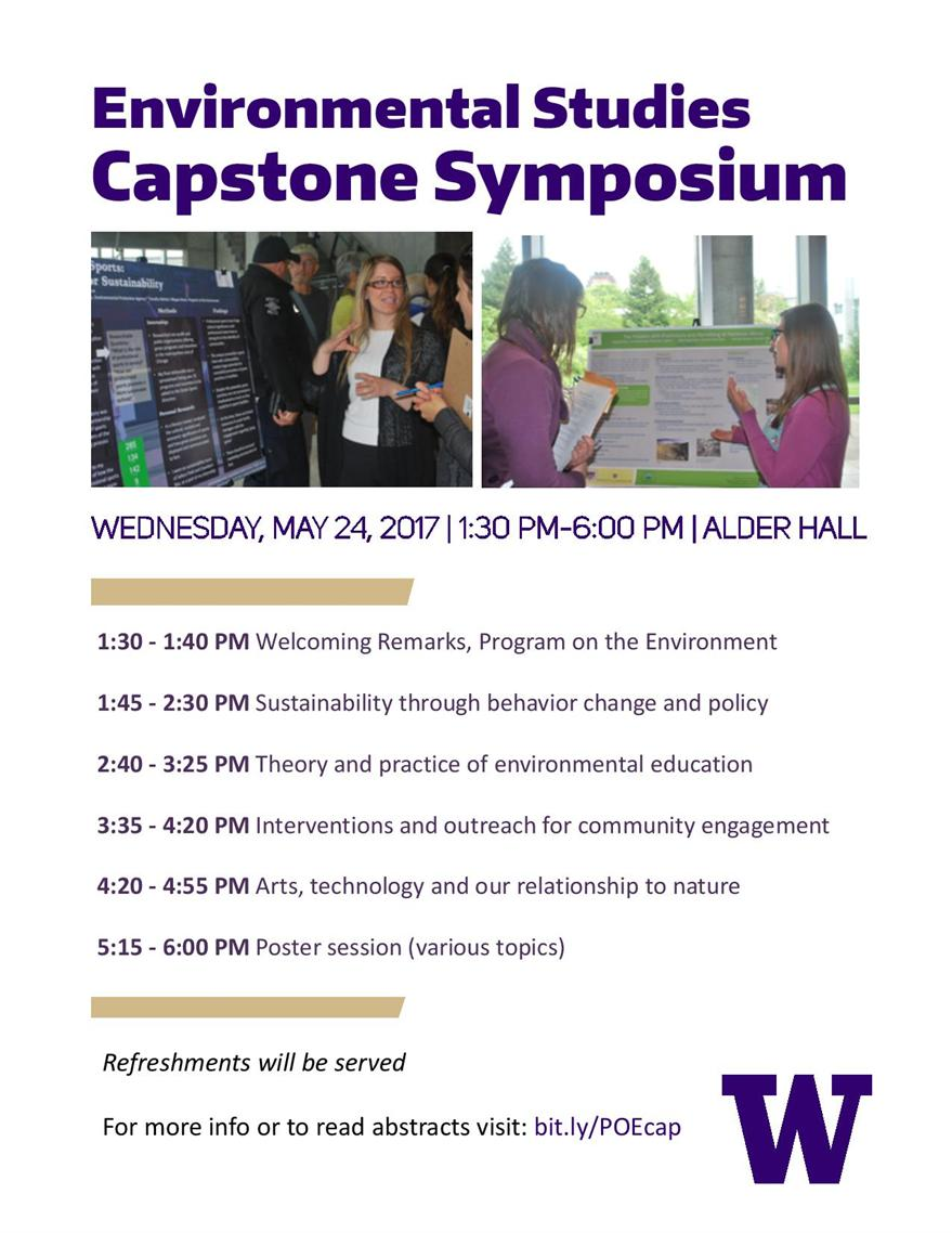 Program on the Environment Capstone Symposium