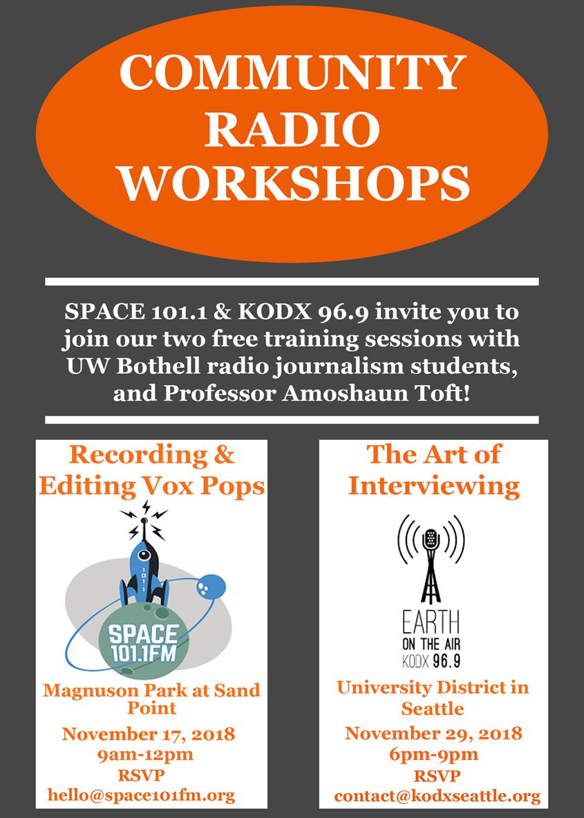 Community Radio Workshop: Recording and Editing Vox Pop