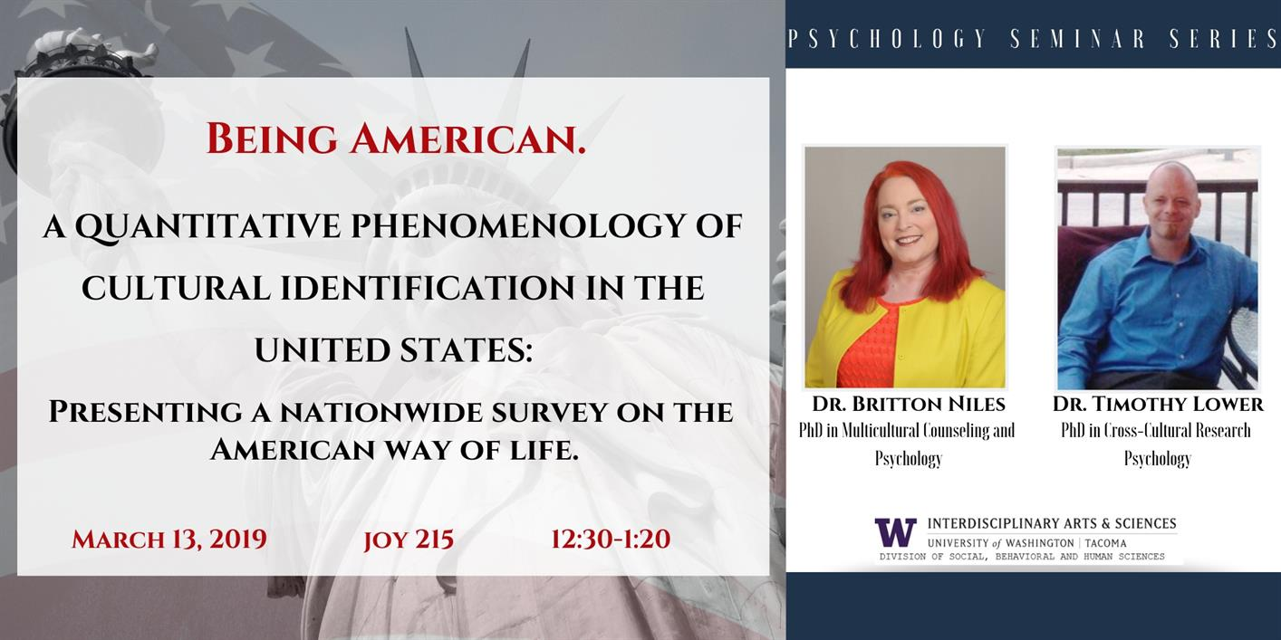 Being American: A Quantitative Phenomenology of Cultural Identification In The United States