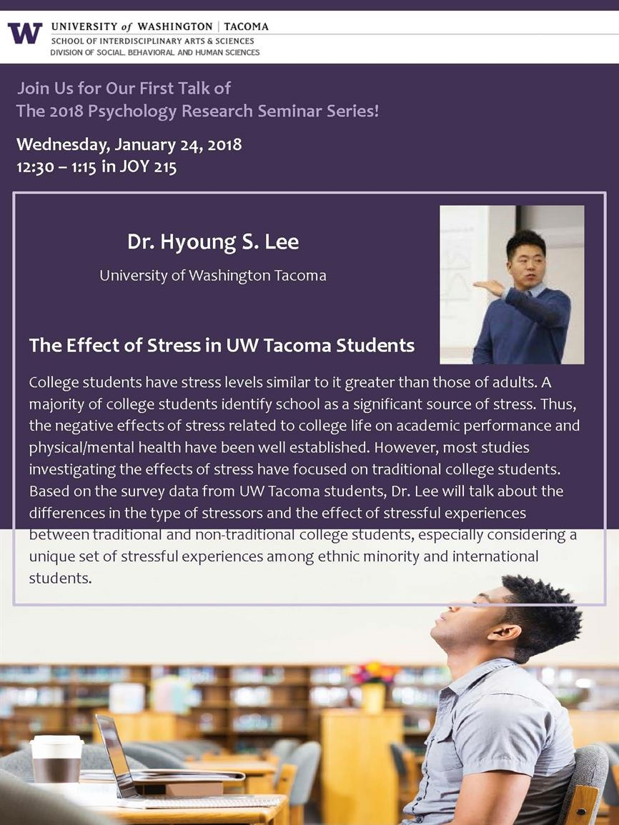 Psychology Research Seminar Series - Dr. Hyoung Lee