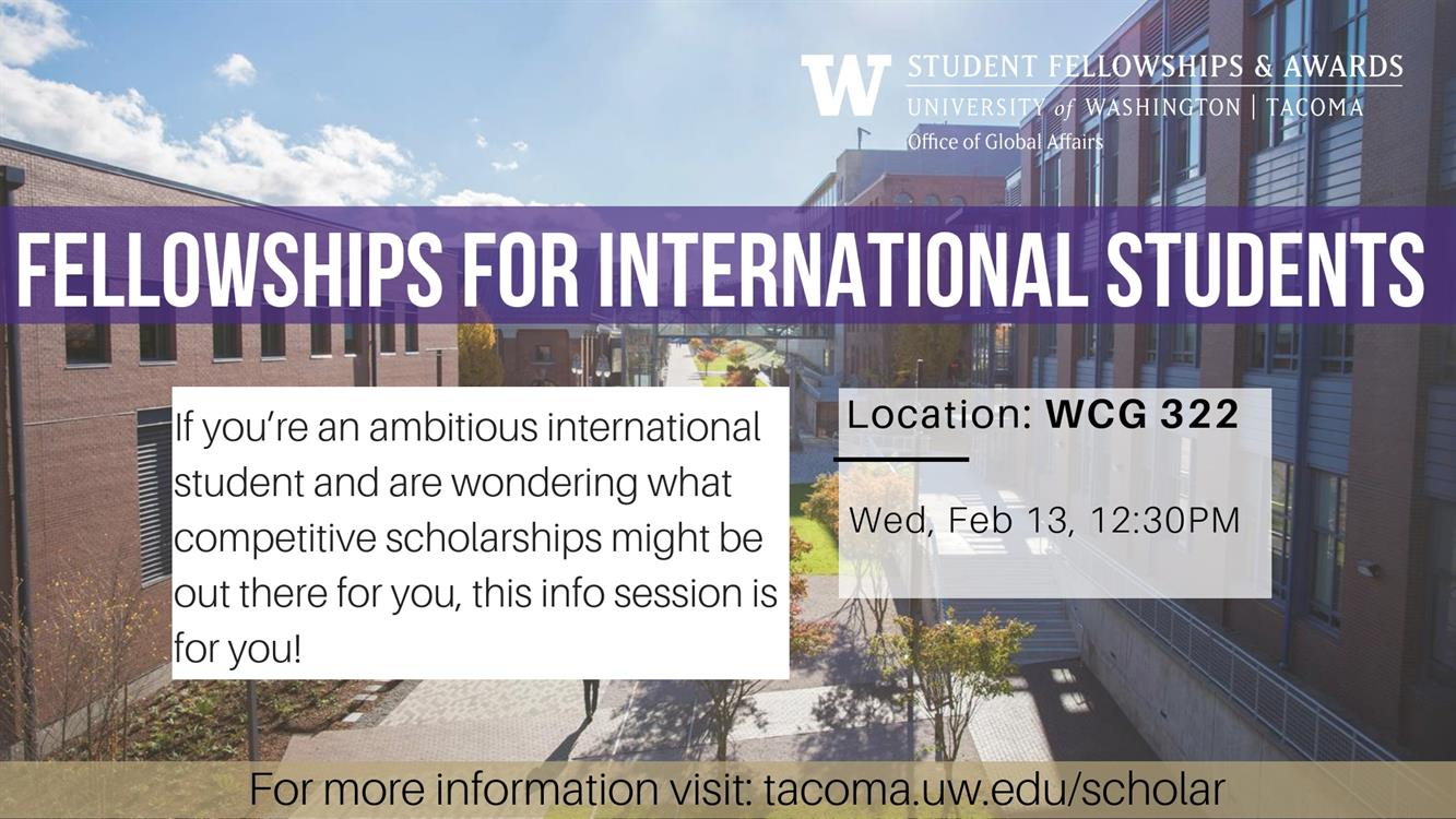 Info Session: Fellowships for International Students