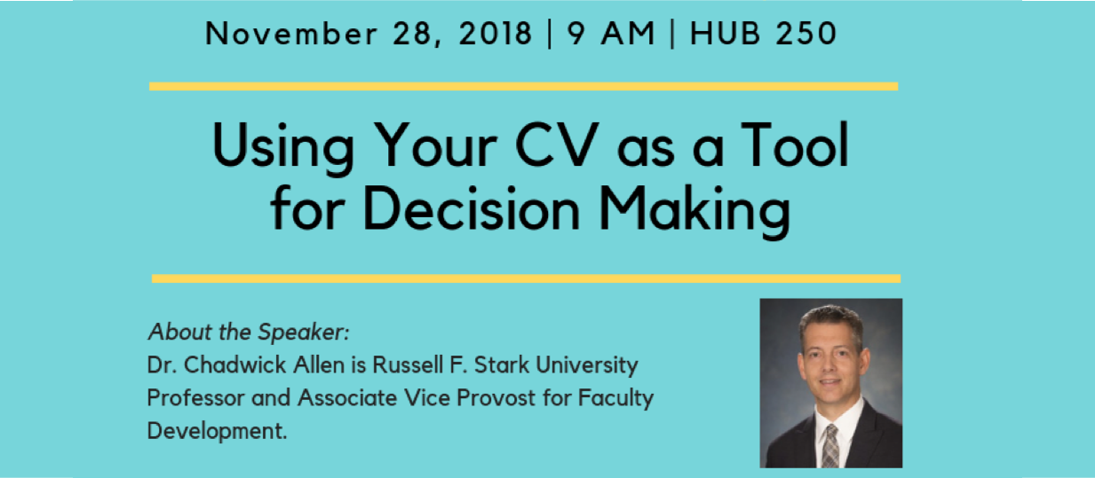Using Your CV as a Tool for Decision Making