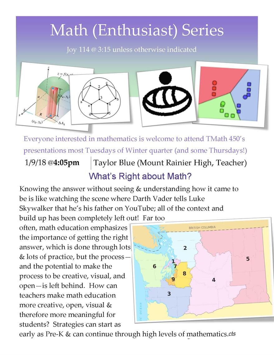 Math (Ethusiast) Talk: What's Right About Math?